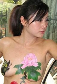 甜美印度美女人体彩绘照片