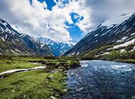 挪威山水树林优美风景图片壁纸