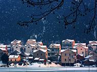 迷情城市雪景高清风景壁纸