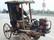 改造后的拖拉机