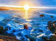 海边日出风景壁纸气势磅礴