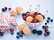 甘甜水嫩杏子水果高清唯美图片