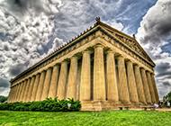 古希腊世界名胜古迹 巴特农神庙优美风景图片
