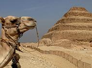 沙漠瑰宝古埃及金字塔美丽风景图片