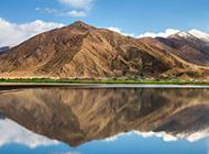 河流山脉秀丽自然风景图片壁纸