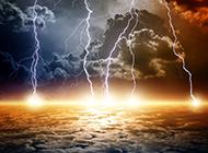 雷雨闪电超震撼自然奇观高清图片