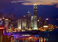 维多利亚港夜景图片璀璨迷人