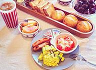 家庭营养早餐丰富美味