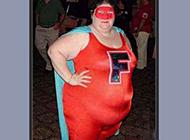 qq爆笑忘记了减肥的超人图片