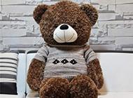 可爱毛绒绒的玩偶小熊图片