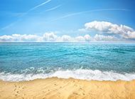 蓝色海岛梦幻海边沙滩美景图片