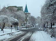 哈尔滨冬天迷人雪景高清图片