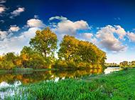 秋季河流风景摄影作品