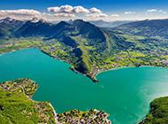 绿色山水风景图片护眼壁纸