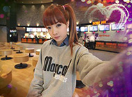 韩国可爱女生恩典甜美街拍