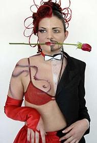 印度美女人体彩绘艺术展