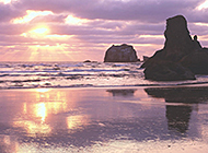 海边夕阳西下自然风光美景