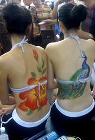 长沙会展中心人体彩绘现场组图