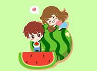 妮玛和王小明可爱恋爱动漫故事壁纸