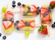 清凉十足的冰棍美食图片