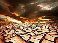 渺无人烟的沙漠戈壁风光高清图片