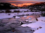秀美自然的山脉风景壁纸