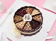 美味的果仁巧克力蛋糕图片