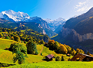阿尔卑斯山风景高清摄影壁纸