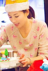 刘涛与一双子女温馨幸福生活写真