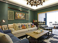 美式客厅简约装修效果图欣赏