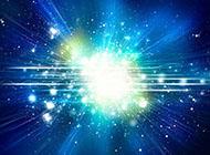 梦幻蓝色星空光斑背景图片