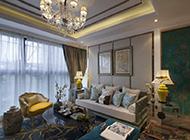简欧式时尚温馨客厅装修效果图