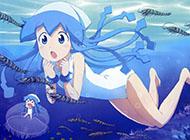 日本动漫《侵略!乌贼娘》精美图片库