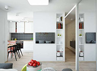 50平精巧都市风格公寓装修设计