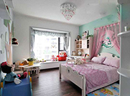 中式卧室现代简约装修效果图优雅庄重