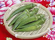 绿色植物秋葵图片欣赏