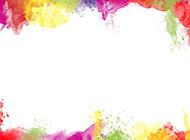 水彩喷溅油画图片素材