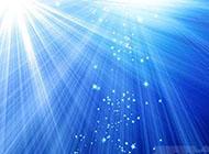 梦幻绚丽蓝色光线背景图