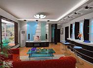 现代时尚家庭吧台装修效果图