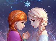 艾沙冰雪奇缘唯美动漫背景图片