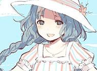 卡通少女背景图片甜美清纯