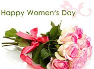 妇女节浪漫粉玫瑰主题节日素材