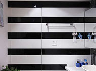 黑白简约风格卫生间隐形门图片