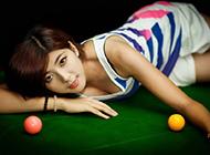 美女性感台球桌妖娆写真壁纸高清