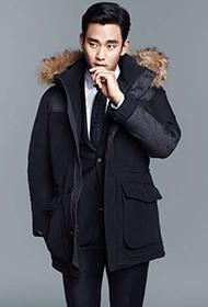 韩国演员金秀贤帅气冬装写真