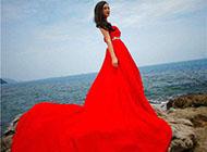 唯美大气红色婚纱女生图片素材