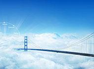 蓝天白云与高架桥唯美梦幻图片