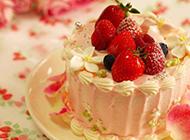 美味的下午茶甜点水果蛋糕图片