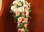 礼堂的白玫瑰插花唯美图片