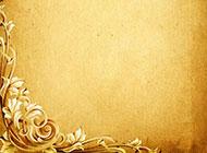 黄色花边背景高清图片素材